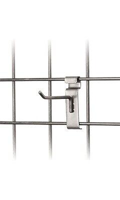 4 Wire Slat Grid Hooks Hook Pegs Gridwall Slat 100 Steel Gray Store Display