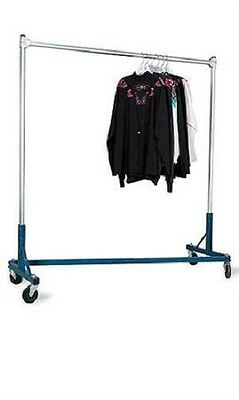 "Clothing Clothes Rack Z-Truck Rolling Locking Casters 500 Lbs Blue 66"" H x 63"" W for sale  Bridgeton"