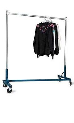 Clothing Clothes Rack Z-truck Rolling Locking Casters 500 Lbs Blue 66 H X 63 W