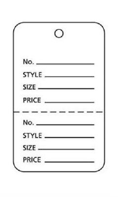 100 Perforated Tags Price Sale 1 X 1 Two Part Merchandise White Tag