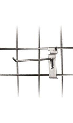 8 Wire Slat Grid Hooks Hook Pegs Gridwall 100 Raw Steel Retail Store Display