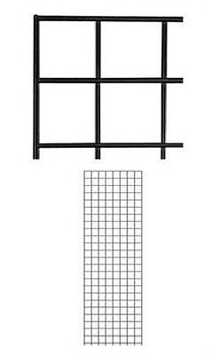 Gridwall Panels 2 X 6 Set Of 5 Grid Wall Display Black Panel Steel Powder Coat