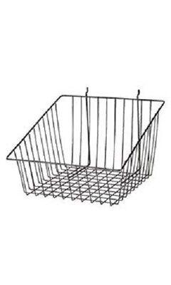6 Gridwall Wire Slant Baskets Black Grid Slatwall Pegboard 12 X 12 X 8 - 4 H