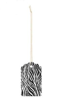 100 Tags Price Sale Zebra Print Black White Merchandise 3 X 2 Strung Large