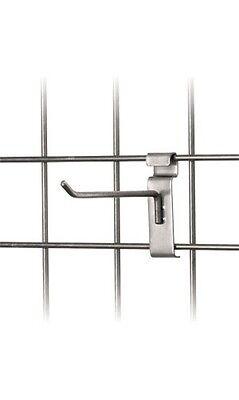 6 Wire Slat Grid Hooks Hook Pegs Gridwall 50 Raw Steel Retail Store Display