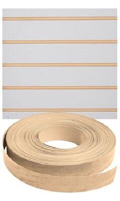 Vinyl Inserts Slatwall Panel Maple Shelving Display 130 Ft 3 Rolls Decorative