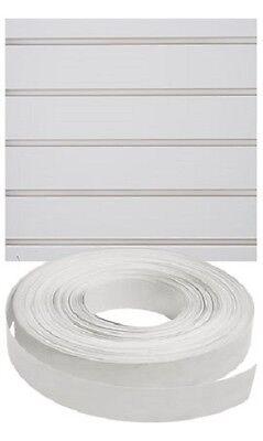 Vinyl Inserts Slatwall White Panel Shelving Display 130 Ft 3 Rolls Decorative