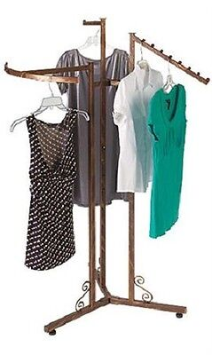 3-way Clothes Rack Clothing Copper Finish Boutique Garment Retail Display