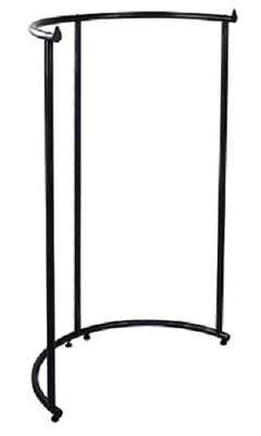 Half Round Clothing Rack Pipeline Clothes Black Adjustable 64 Hanging Space