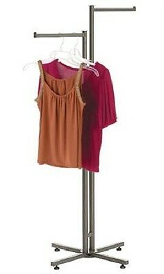 Clothes Rack Two Way 2 Straight Arm Arms Clothing Garment Display Steel 72