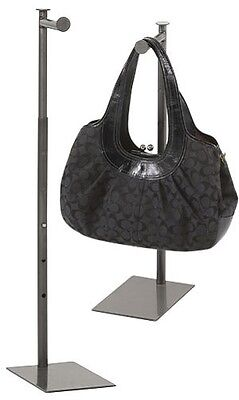 Countertop Display Handbag Purse Stand Rack Adjustable 36 S Finial Metal