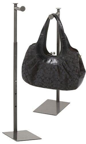 "Countertop Display Rack Stand Handbag Purse 36"" Teardrop Fin"