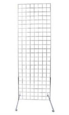 Gridwall Panel 2 X 6 Grid Wall Display Chrome Steel 2 Legs 3 Oc Steel Metal