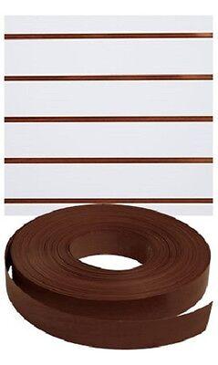 Vinyl Inserts Slatwall Dark Walnut Shelving Brown 130 Ft 6 Rolls Decorative