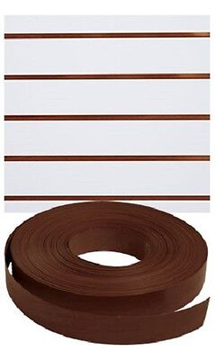 Vinyl Inserts Slatwall Dark Walnut Shelving Brown 130 Ft 4 Rolls Decorative
