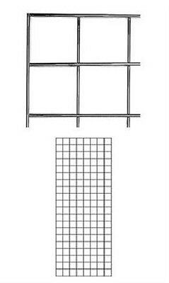 Set Of 2 Gridwall Panels 2 X 5 Grid Wall Display Chrome Panel Steel Powder Coat