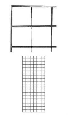 Set Of 2 Gridwall Panels 2 X 5 Grid Wall Display Chrome Panel Steel Powder Coat
