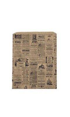 Newsprint Paper Merchandise 500 Bags 12 X 15 Retail Gift Black Tan News Print