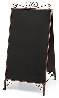 A-frame Chalkboard Sign Copper Finish Double Sided Magnetic Sidewalk Business