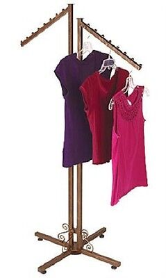 Clothing Rack Two Way 2 Slant Arms Clothes Garment Retail Display Copper 72