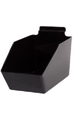 6 Slatwall Bins Dump Acrylic Black 9 X 6 W X 5 Plastic Retail Display