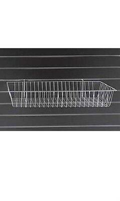 6 Slatwall Pegboard Gridwall Wire Baskets White Grid 24 X 12 X 4 Powder Coat