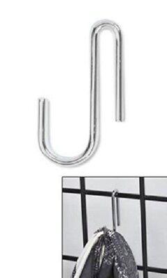 100 Chrome Wire Grid Display Hooks Hook Panels Merchandise Handbag Purse Impulse