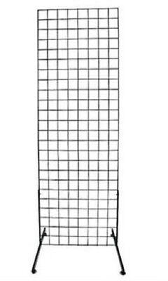 Gridwall Panel 2 X 6 Grid Wall Display Black Steel 2 Legs 3 Oc Steel Metal