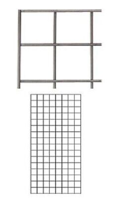 Wire Grid Panel 2 X 4 Raw Steel Retail Display Gridwall Double Wire Sides