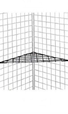 3 Corner Shelves Shelf Triangle Wire Grid Slat Grid Black 24 X 24 X 32 Display