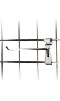 10 Wire Slat Grid Hooks Hook Pegs Gridwall 50 Slat Steel Silver Retail Display