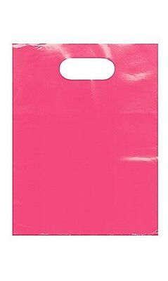 Plastic Bags Low Density 9 X 12 Shopping 1000 Pink Lime Green Red Blue Black