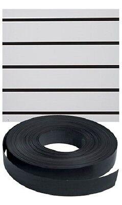 Vinyl Inserts Slatwall Panel Black Shelving Display 130 Ft 3 Rolls Decorative