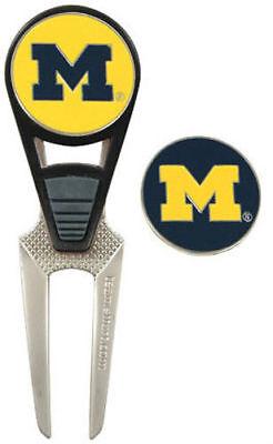 Michigan Wolverines Divot Tool (Michigan Wolverines U of M Divot Repair Tool & Hat Ball Marker New)