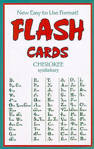 CHEROKEE LANGUAGE FLASH CARD BOOK, NATIVE AMERICAN BOOKS