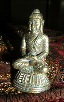 Old Tibetan Wooden Miniature Buddha Statue/Amulet IN