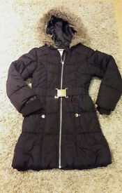 Girls black coat age 7-8