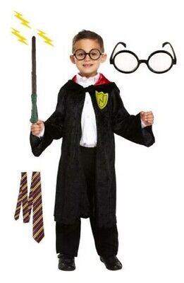 Zauberer Zubehör Kinder Buch Woche Kostüm Krawatte Zauberstab Brille