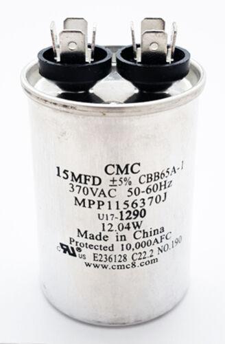 Motor Start Run Capacitor 15uF 370VAC 5% 50/60 Hz CBB65A-1 NEW (1 piece)