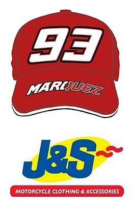 MARC MARQUEZ RED CAP 1593 MM93 MOTO GP MOTORCYCLE RACING BASEBALL J&S