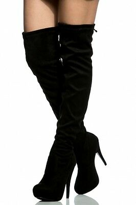 WOMEN'S STRETCH OVER THE KNEE THIGH HIGH BOOTS