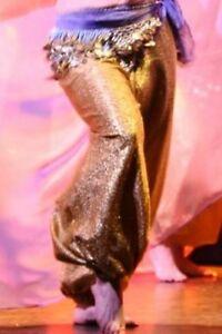 Pantalon Harem Or  - baladi - belly dance - gold genie pants