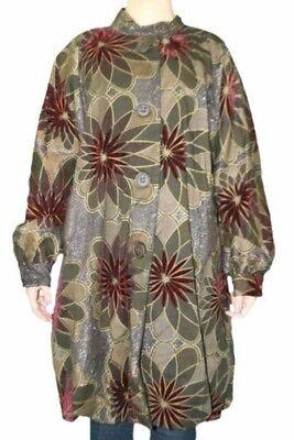 Custo Barcelona Mujer Rudy Colorscope Floral Guisante Abrigo 792551 Sz 8/42 Nwt