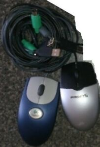 PROSYS PS/2 Wired Mouse and 2.4 Ghz Rapoo 1090 Wireless Mouse