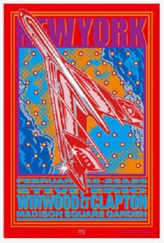 Eric Clapton Steve Winwood POSTER John Van Hamersveld Signed New York Original!!