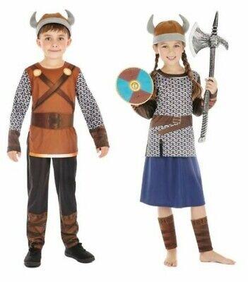 Mädchen Jungen Viking Outfit Kostüm Buch Woche Tag Sächsisch - Viking Mädchen Kostüm