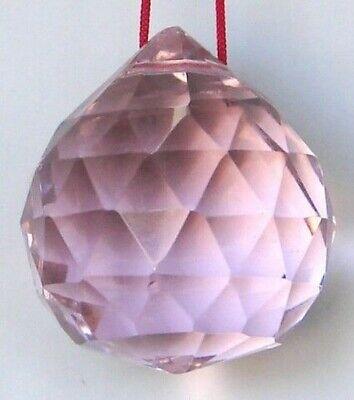50mm Feng Shui Rosa Colgante Cristal Bola