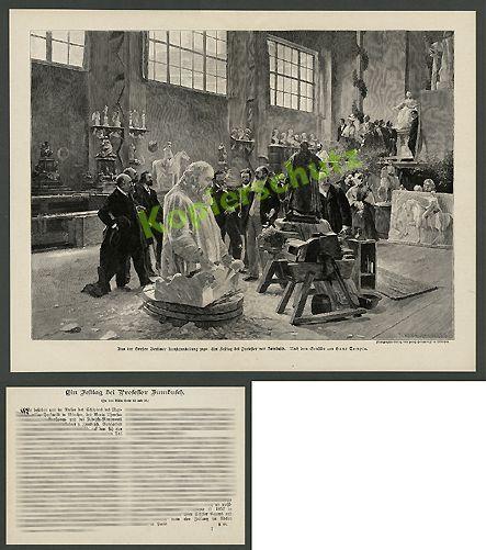 Bildhauer Zumbusch Alois Strobl Atelier Wien Habsburg Adel Kaunitz Billroth 1898