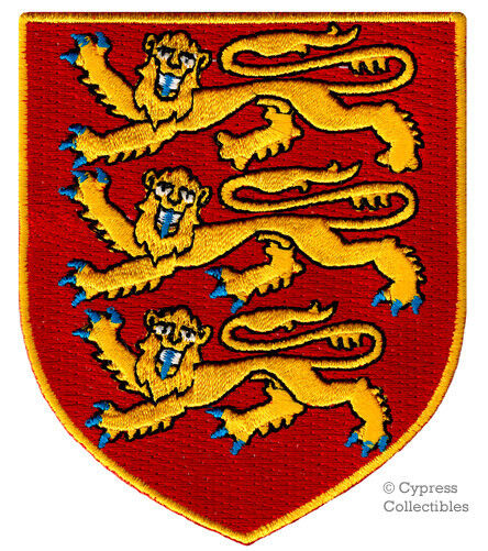 ROYAL ARMS OF ENGLAND embroidered PATCH iron-on BRITISH COAT CREST APPLIQUE UK