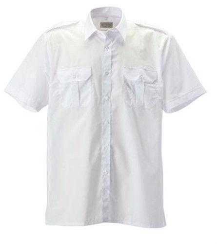 Mens Short Sleeve White Dress Shirt